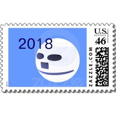 2018 Happy New Year Postage Stamp by Text Me