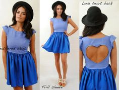 Vintage style love heart back dress.  Love the heart and colour...