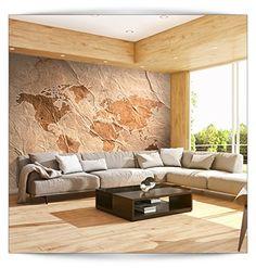 Great Fototapete Weltkarte Landkarte Kontinent cm XXL VLIES TAPETE Moderne Wanddeko Fototapete Illusion Riesen Wandbild Design Tapete Schlafzimmer