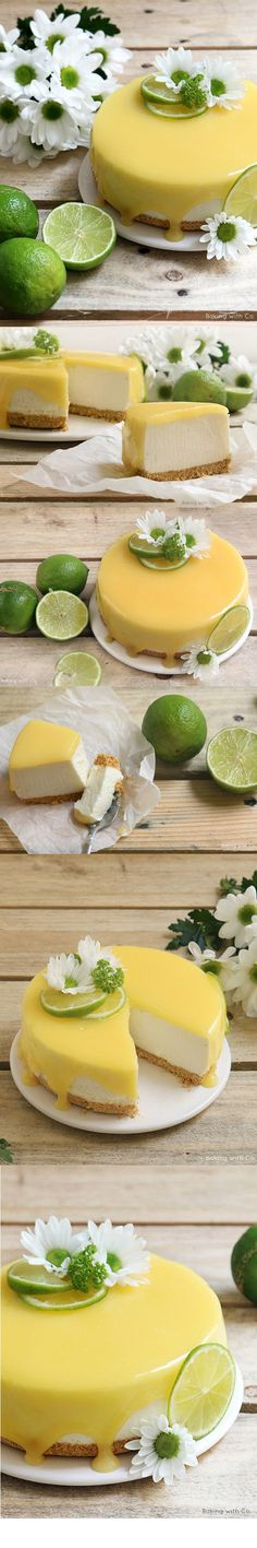 ( ^o^ ) cheesecake-lima-tarta-queso Just Desserts, Delicious Desserts, Yummy Food, Cupcakes, Cupcake Cakes, Cheesecake Recipes, Dessert Recipes, Lime Cheesecake, Super Torte