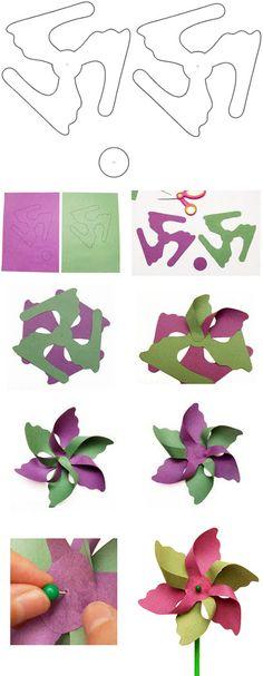 FREE DIY PDF printable print and cut pin wheel