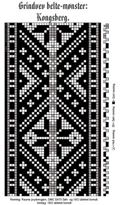 Kongsberg – Vevstua Bull-Sveen Inkle Weaving Patterns, Loom Weaving, Loom Patterns, Embroidery Stitches Tutorial, Knitting Stitches, Berber Tattoo, Loom Board, Finger Weaving, Postage Stamp Quilt