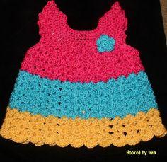 Ombre Peyton dress! Fabulously handmade! #hookedbyima #crochet #girly #handmade #dress #summer