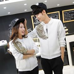 Buy 'Lovebirds – Couple Wing Sequined Zip Jacket' with Free International Shipping at YesStyle.com. Browse and shop for thousands of Asian fashion items from China and more!