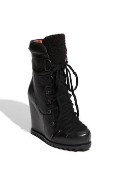 These Luxury Rebel 'Trenton' Wedge Boots remind me of a kick-ass Russian female spy. Boots in May? Sure why not.