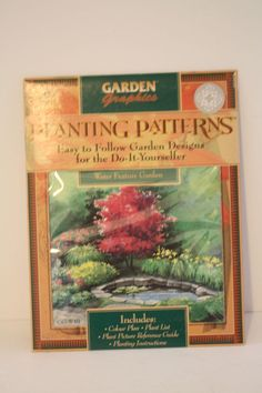 Planting Patterns Garden Design Water Feature Garden Picture Guide Instructions #GardenGraphics
