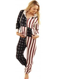 9ec981941f Designer Desirables Stars   Stripes Soft Fleece Unisex Onesie Pajama Party
