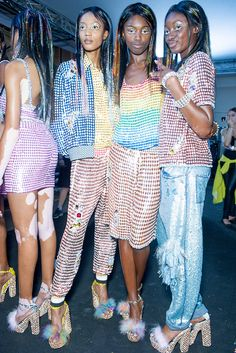 Ashish SS15 LFW | I love this designer! Fun, weird and covered in sequins