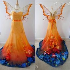I am itching to see in this gown and wing set I made. Also sorry for the lopsided wings they moved when I turned her… Pretty Outfits, Pretty Dresses, Beautiful Outfits, Awesome Dresses, Fantasy Costumes, Cosplay Costumes, Fairy Mermaid, Illustration Fantasy, Fantasy Gowns