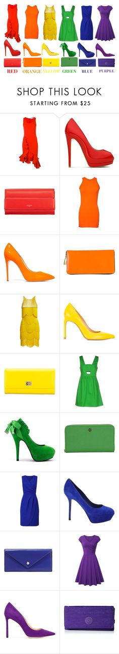 """rainbow"" by sarah-michelle-steed ❤ liked on Polyvore featuring Givenchy, Giuseppe Zanotti, Gucci, Casadei, Comme des Garçons, Naeem Khan, Stuart Weitzman, Dolce&Gabbana, P.A.R.O.S.H. and Tory Burch"