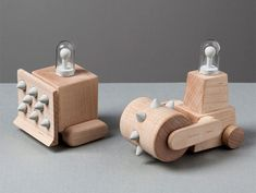 Seoul-based toy design brand Toycabinet has created a series of evil wood toys inspired by heavy construction vehicles.
