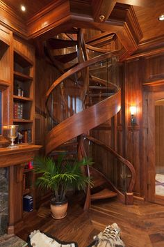 a very cool and amazing special design from tiny house decor for creative design your modern farmhouse Future House, My House, House Club, Spiral Staircase, Staircase Design, Staircases, Wood Staircase, Stair Design, Modern Staircase