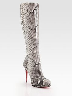 Christian Louboutin Botta Python Knee-High Boots...these need to be in my closet!