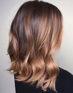 Strawberry Blonde Balayage for Brunettes http://haircut.haydai.com #Balayage, #Blonde, #Brunettes, #Strawberry http://haircut.haydai.com/strawberry-blonde-balayage-for-brunettes/