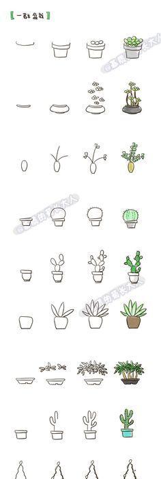 Как рисовать мимимишные растения