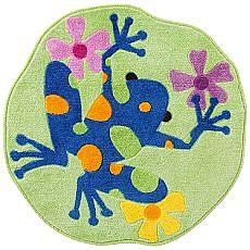 Tropical Frogs Bath Rug: Hop to it and bring this cute bath rug home.  Ribbit! Read More