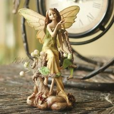 countryside forest angel figurine