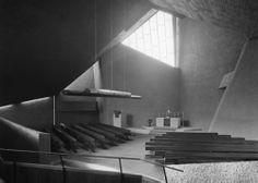 Paul-Gerhardt-Kirche bauzeitliche Aufnahme Innenraum