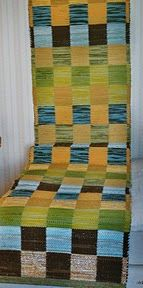 I n s p i r Recycled Fabric, Woven Rug, Textile Art, Floor Chair, Recycling, Weaving, Textiles, Quilts, Blanket