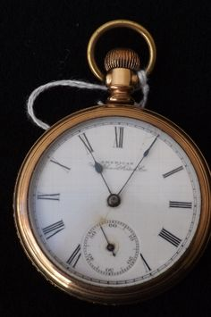 Antique pocket watch American Waltham Watch Co vintage and working.