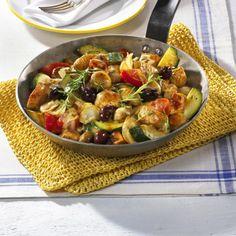 Leichte Gemüse-Puten-Pfanne Rezept   LECKER