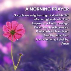 Morning Prayer: a morning prayer