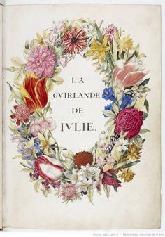La guirlande de Julie peinte par Nicolas Robert