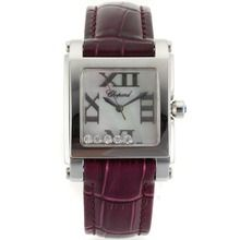 Chopard Happy Diamonds Roman Markers with MOP Dial-Purple Leather Strap    $138.00  #cheap #luxury #watches