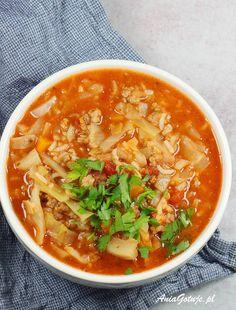 Zupa gołąbkowa, 1 Good Food, Yummy Food, Yummy Yummy, Polish Recipes, Thai Red Curry, Soup Recipes, Lose Weight, Food And Drink, Meals