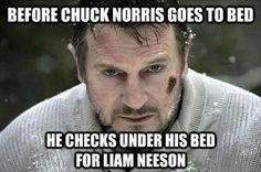 Before Chuck Norris goes to bed...
