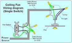2 way switch ceiling fan wiring diagramstpinterest
