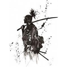 Evocative fan art inspired by Takehiko Inoue's 'Vagabond' series ( バガボンド or 'Bagabondo'). Soo sick!