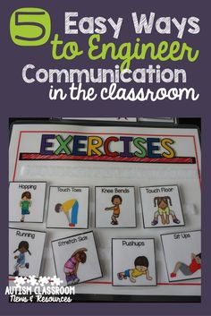 Engineering the special education classroom for a variety of communication needs is key in classroom setup.  I shared 5 easy ways to set up communication tools and systems in the classroom from speech to AAC. via @drchrisreeve