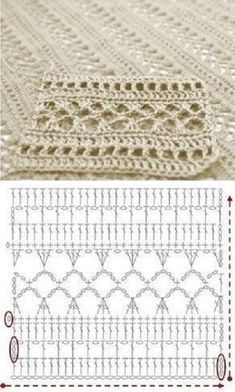 Tutorial: Crochet chart reading Explained nicely for a beginner.Discover thousands of images about Tutorial: Crochet chart readingCROCHET - Lovely Feminine Wide Boarder Lattice Stitch Pattern (Asian Pattern, Found on Russian Website (allmyhobby.
