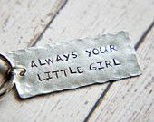 Wedding Keychain - Hand Stamped Keychain - Always Your Little Girl Keychain - Gift for Him - Gift for Dad - Gift for Father of Bride #sosimplyquaint #everydayjewelry #casualjewelry