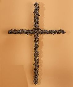 This Rustic Iron Cross Wall Décor is perfect! #zulilyfinds