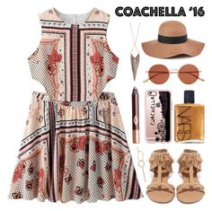 """Hot Coachella Style"" by lgb321 ❤ liked on Polyvore featuring WithChic, Reiss, Qupid, Oliver Peoples, Casetify, NARS Cosmetics, Jules Smith and VANRYCKE"