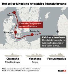 Kinesiske krigsskibe eskorteres gennem dansk farvand | Nyheder | DR
