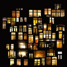 """The artist Anne-Laure House travels through the cities and observes the buildings and their windows illuminated at night. In his photo series """"Pictures of intimacy,"""" she reveals the lives, stories and spaces behind the facades and give themselves to see from Street, New York (above), Amsterdam, Prague, on the Ile de Ré and Paris."""