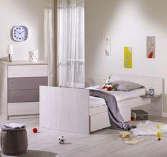 Lit 60x120 Cm Commode Armoire Opale Figue Avec Décor Chambre