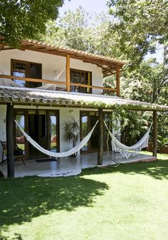 Casas da Clea Paiva Trancoso: House 02 - All About Rest House, Tiny House, Mexico House, Hacienda Style, Tropical Houses, My Dream Home, Future House, House Plans, Pergola