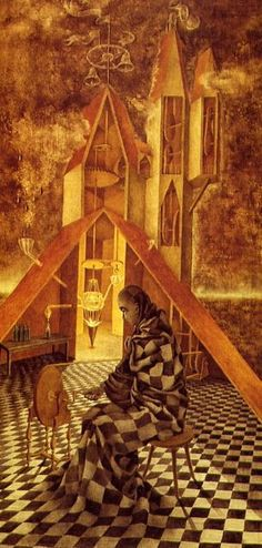 'The Useless Science' or 'The Alchemist', 1955 by Remedios Varo.