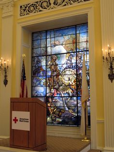 American Red Cross Headquarters. Actual Tiffany stained glass windows.
