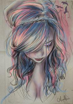 "vintagecuteness's save of A4 ""Colourblind"" Digital Art Print on Wanelo"