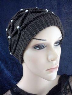 Crochet Knit Cap Chemo Beanie Casual Hat Beret Flower Motif | eBay