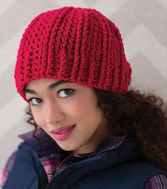 Ridged Crochet Hat
