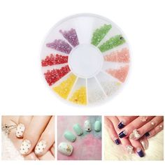6 Color Glitter Mini Hemisphere Particle Circular Disc Container Nail Art Decorations Rhinestones For Nail Design * You can get additional details at the image link.