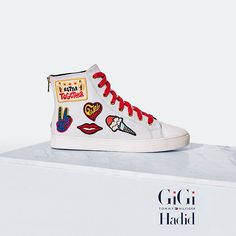ba9ad356a Shop the white textile sneakers gigi hadid from the latest Tommy Hilfiger  sneakers collection for women. Maddie Spagnola · Shoes