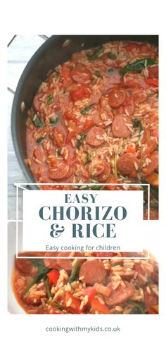 Chorizo rice is a great family dinner that can be ready in less than half an hour, making it a great midweek meal that even fussy eaters can enjoy. Easy Kid Friendly Dinners, Easy Family Dinners, Family Meals, Easy Meals, Midweek Meals, Quick Weeknight Dinners, Chorizo Recipes, Rice Recipes, Mexican Dinner Recipes
