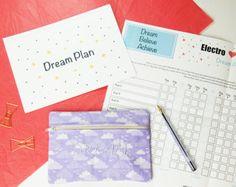 Handmade positive goal setting kit - Electrostitch, Dream Plan